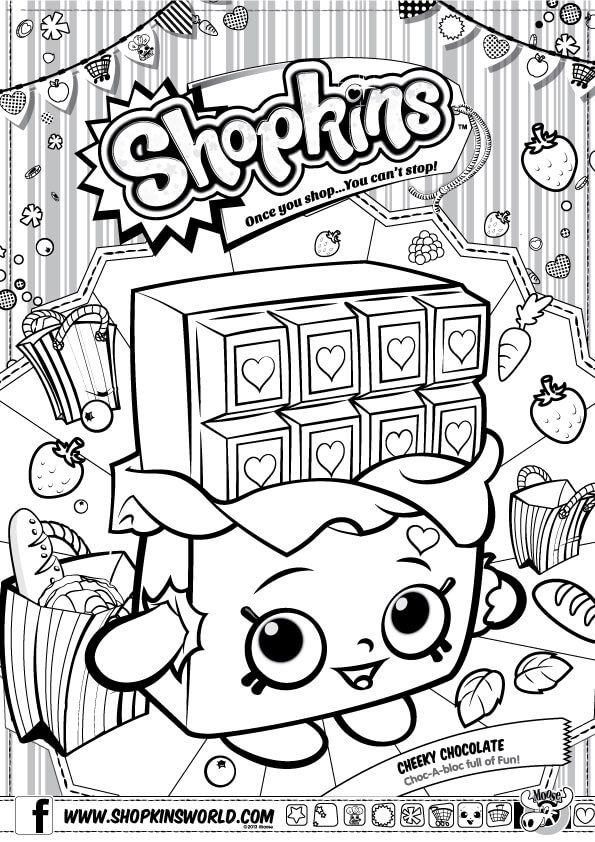 Shopkins Coloring Pages Season 1 Cherry Chocolate | Shopkins ...
