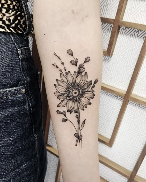50 Surreal Stunning and Small Sunflower Tattoos to Celebrate the Beauty of Nature