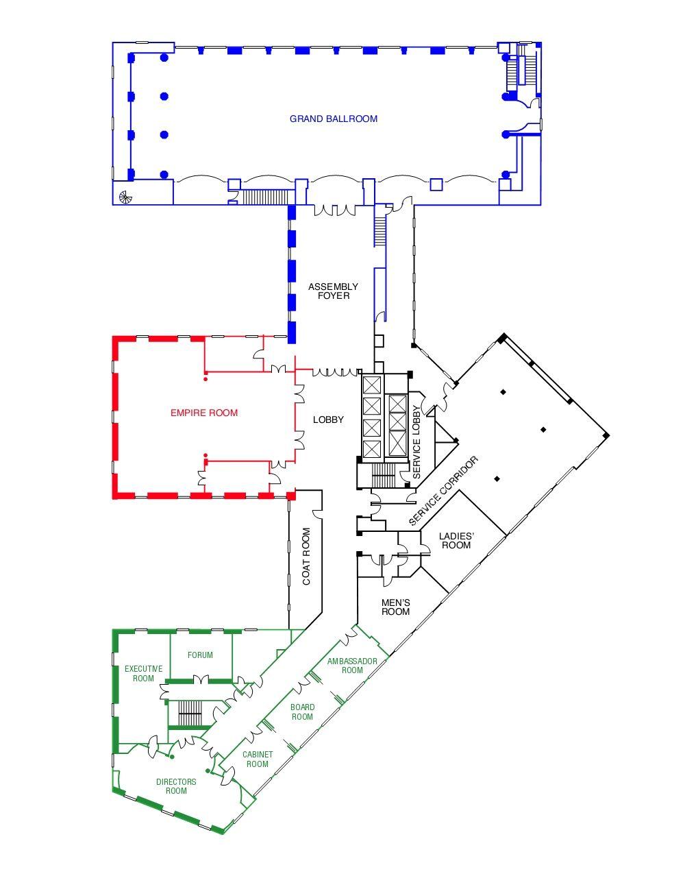 Floor Plan Of 10th Floor In Marriott Syracuse Downtown Hotel Downtown Hotels Floor Plans Marriott