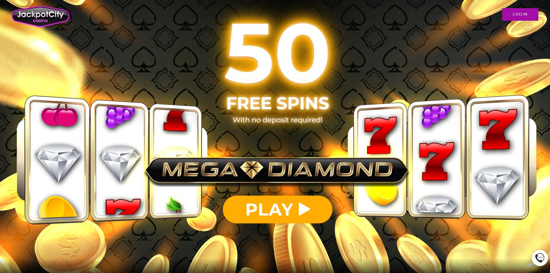 Jackpot City Casino 50 Gratis Spins No Deposit Bonus! | Free spins, Casino,  Casino bonus