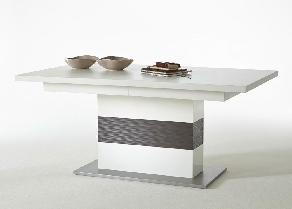 Esstisch Trento Weiß Hochglanz mit Grau 20700 Buy now at