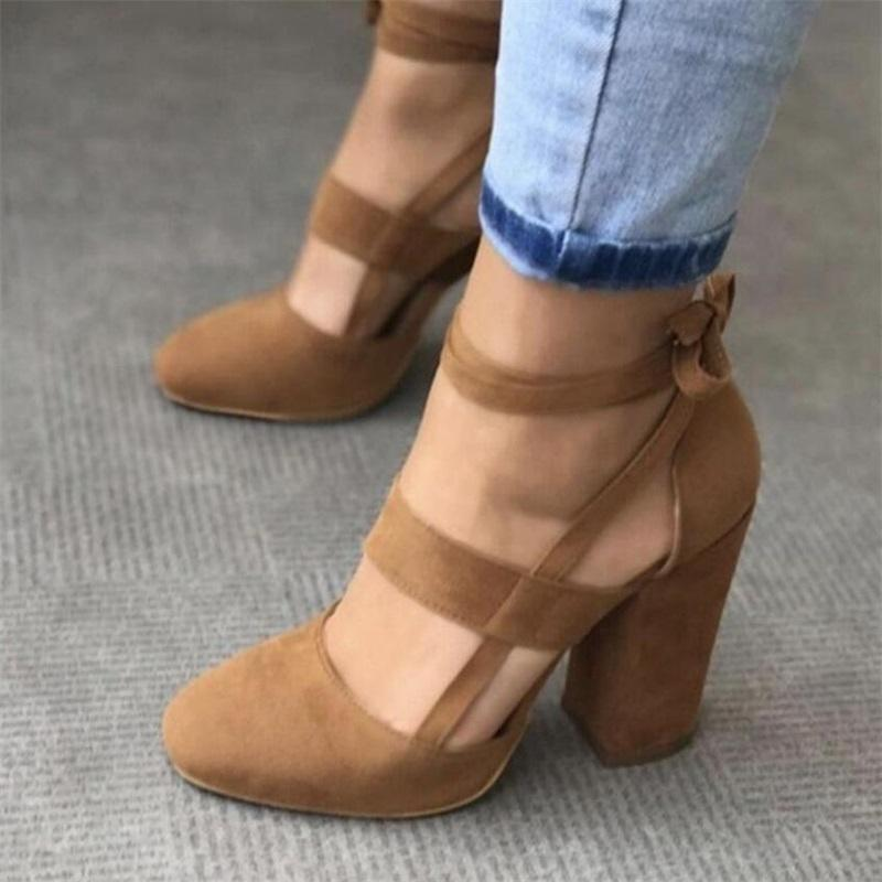 1a94e13f981 Block heel closed toe 2-part shoe with strappy upper in sizes UK 4 - UK 7  Upper Material  Vegan suede Lining Material  Vegan leather Heel height  8  cm ...