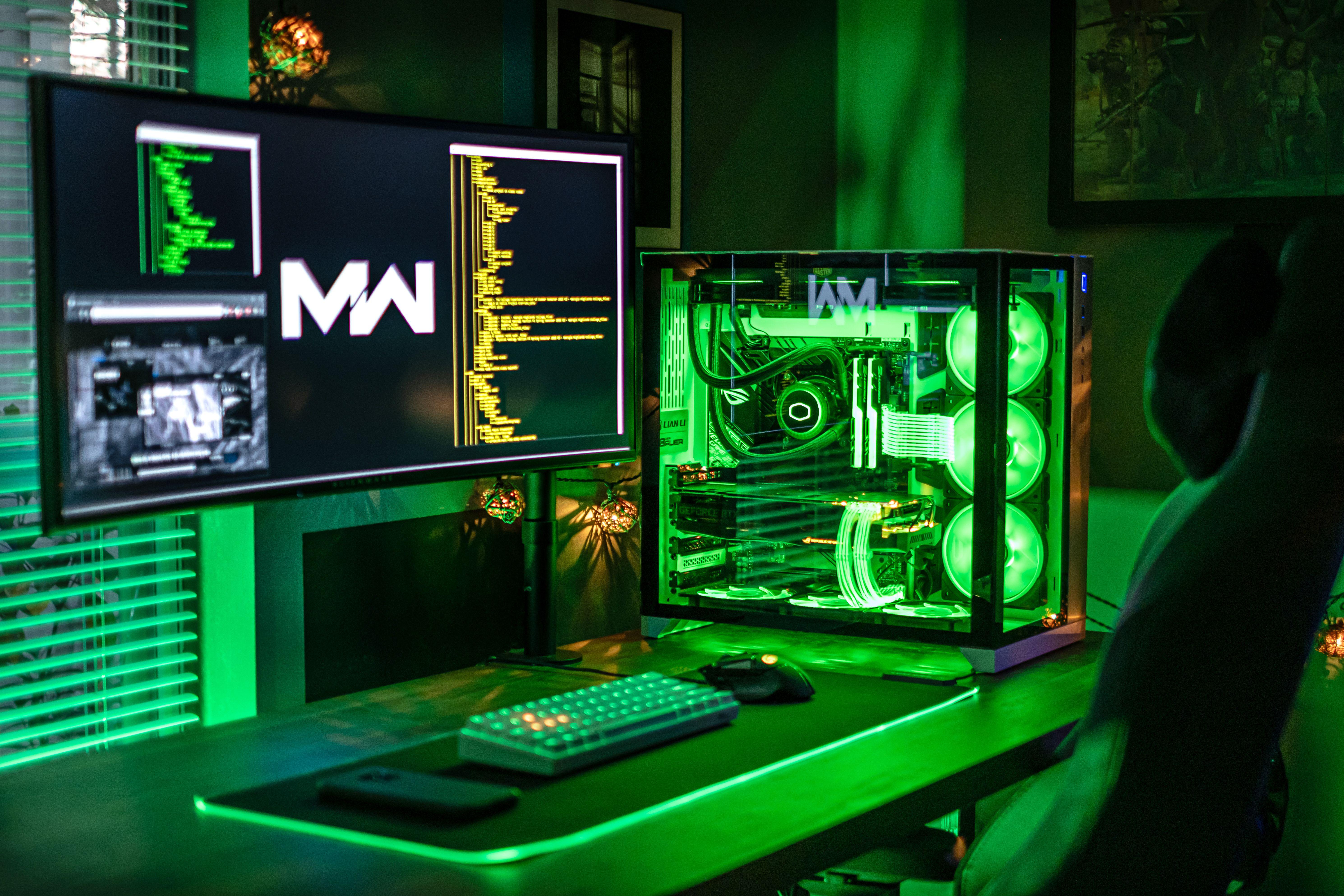 Bravo 6 going green. Video game rooms, Pc setup