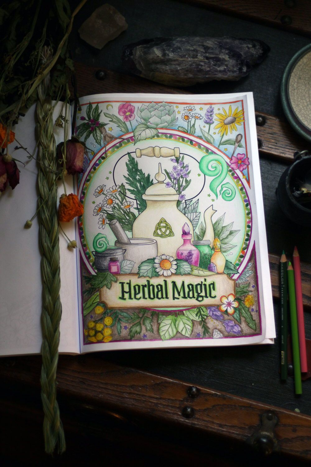 Coloring Book Of Shadows Witch Life Book Of Shadows Grimoire Book Witchcraft Books