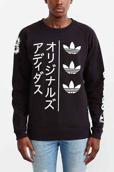 Adidas originali tokyo striscia a maniche lunghe felpa pinterest