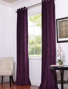 Purple Bedroom Curtains Delectable Grommet Eggplant Curtains & Drapes  The Color Purple  Pinterest Decorating Inspiration