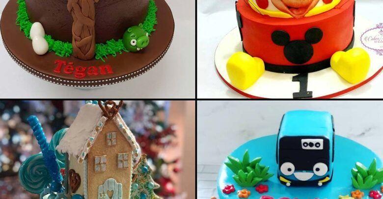كيك عيد ميلاد سهل للأطفال 2020 Gingerbread House Gingerbread Desserts
