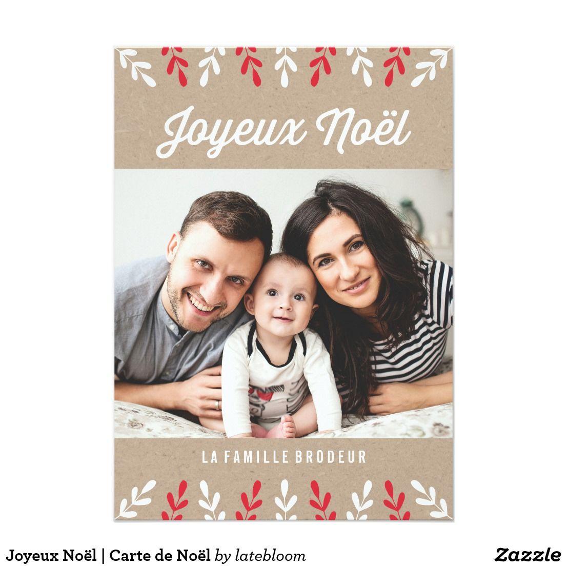 Joyeux Noël Carte De Noël Holiday Card Zazzlecom Holiday