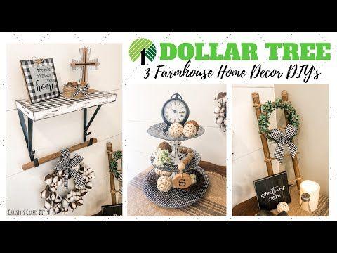 3 Dollar Tree Diy Farmhouse Rustic Decor Dollar Tree Diy Home Decor Youtube In 2020 Dollar Tree Decor Dollar Tree Diy Farmhouse Diy