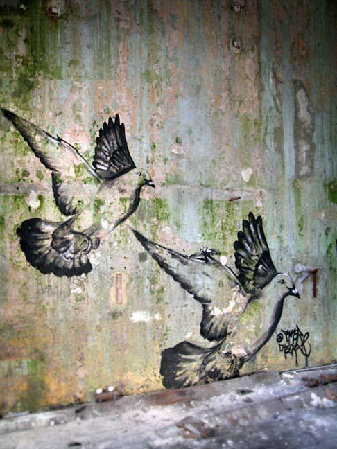 Street art.  doves 000