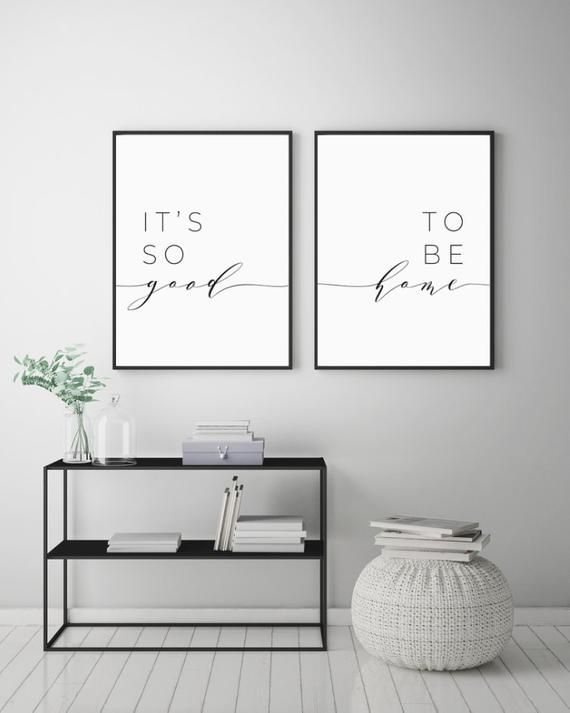 Its So Good To Be Home Printable Sign Set, Bedroom Quote Decor, Living Room, Wall Art Prints, Insta