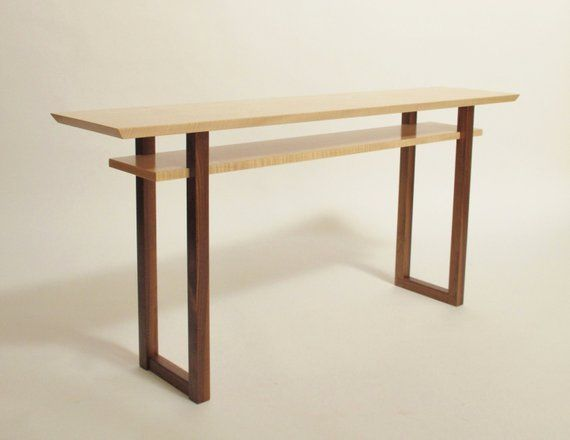 Contemporary Long Low Console Table Narrow Sofa Table Mid