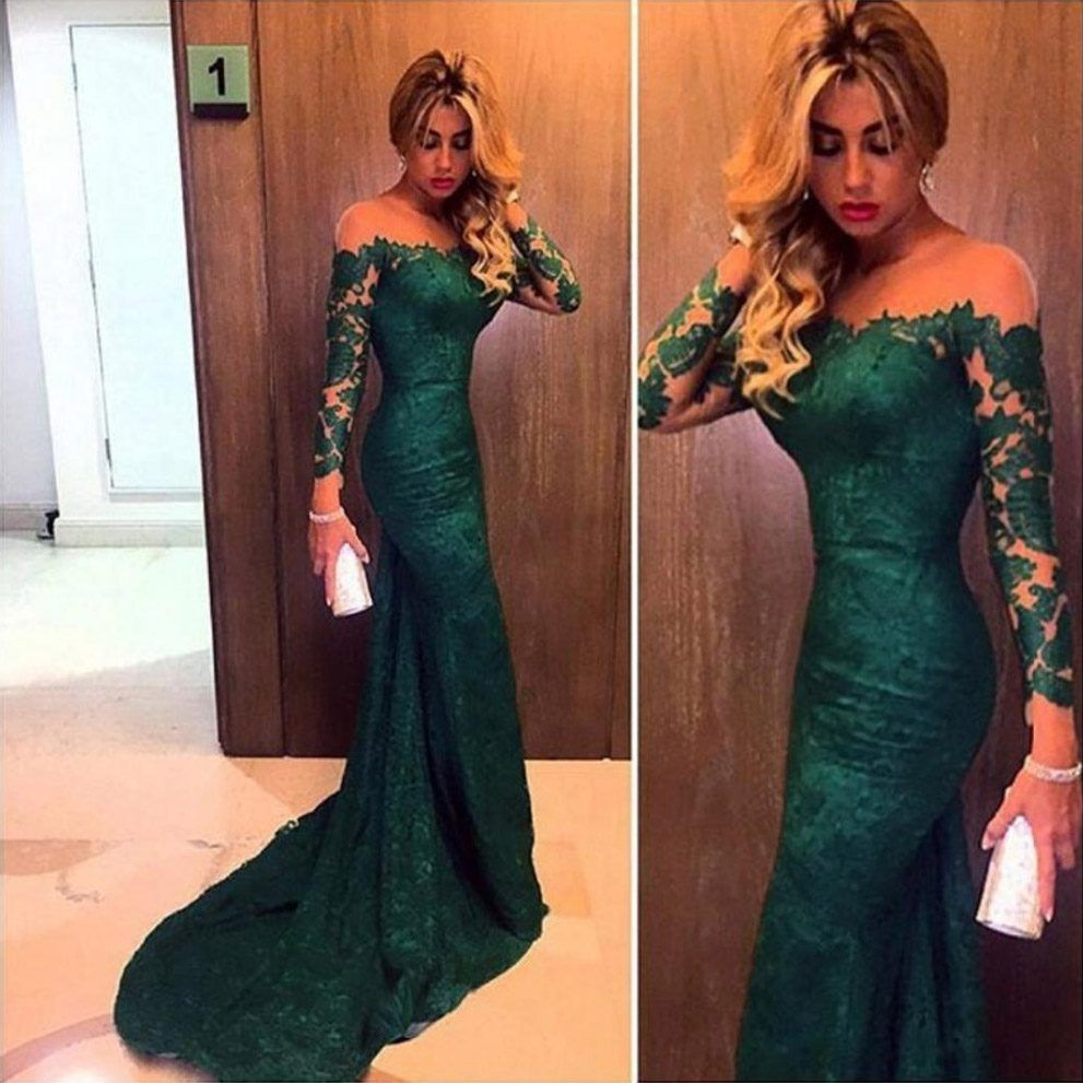 Green lace prom dress pdressesgreenlaceprom