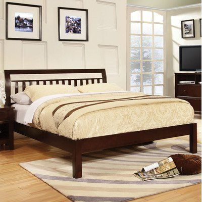 Baxley Slat Bed Finish: Dark Walnut, Size: King:Amazon:Home & Kitchen. $501.61