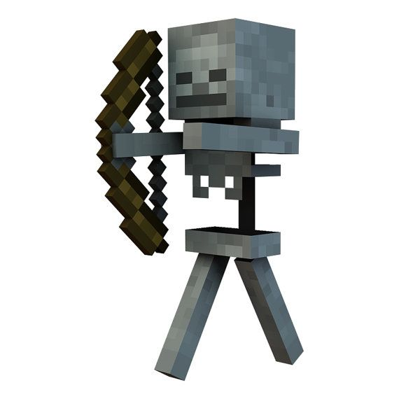 Minecraft Skeleton Vinyl Wall Decal By Wilsongraphics On