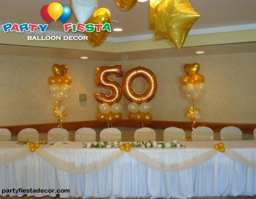 50th Birthday Party Balloons Decorations 50 Parties