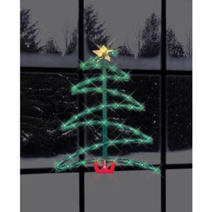 """Impact Innovations 17.5"""" Lighted Christmas Tree Silhouette ..."""