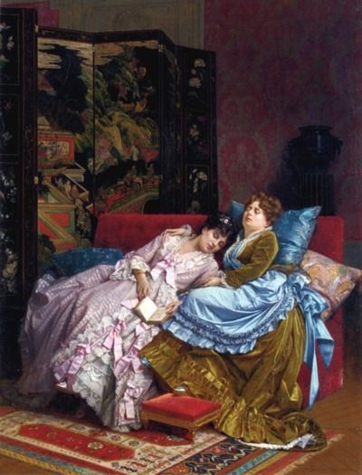 An Afternoon Idyll Auguste Toulmouche 1874 - Fripperies and Fobs