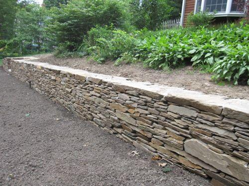 Schist Retaining Wall Tuinidee Tuin Afbeeldingen