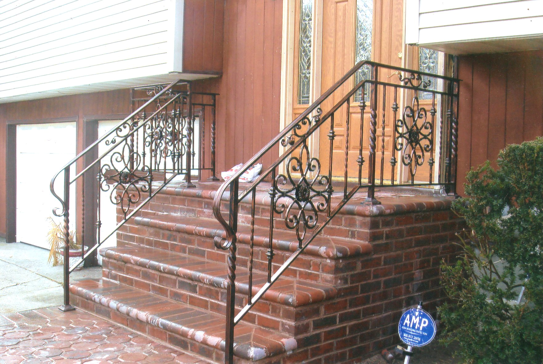 Brickwork with antique finishes.