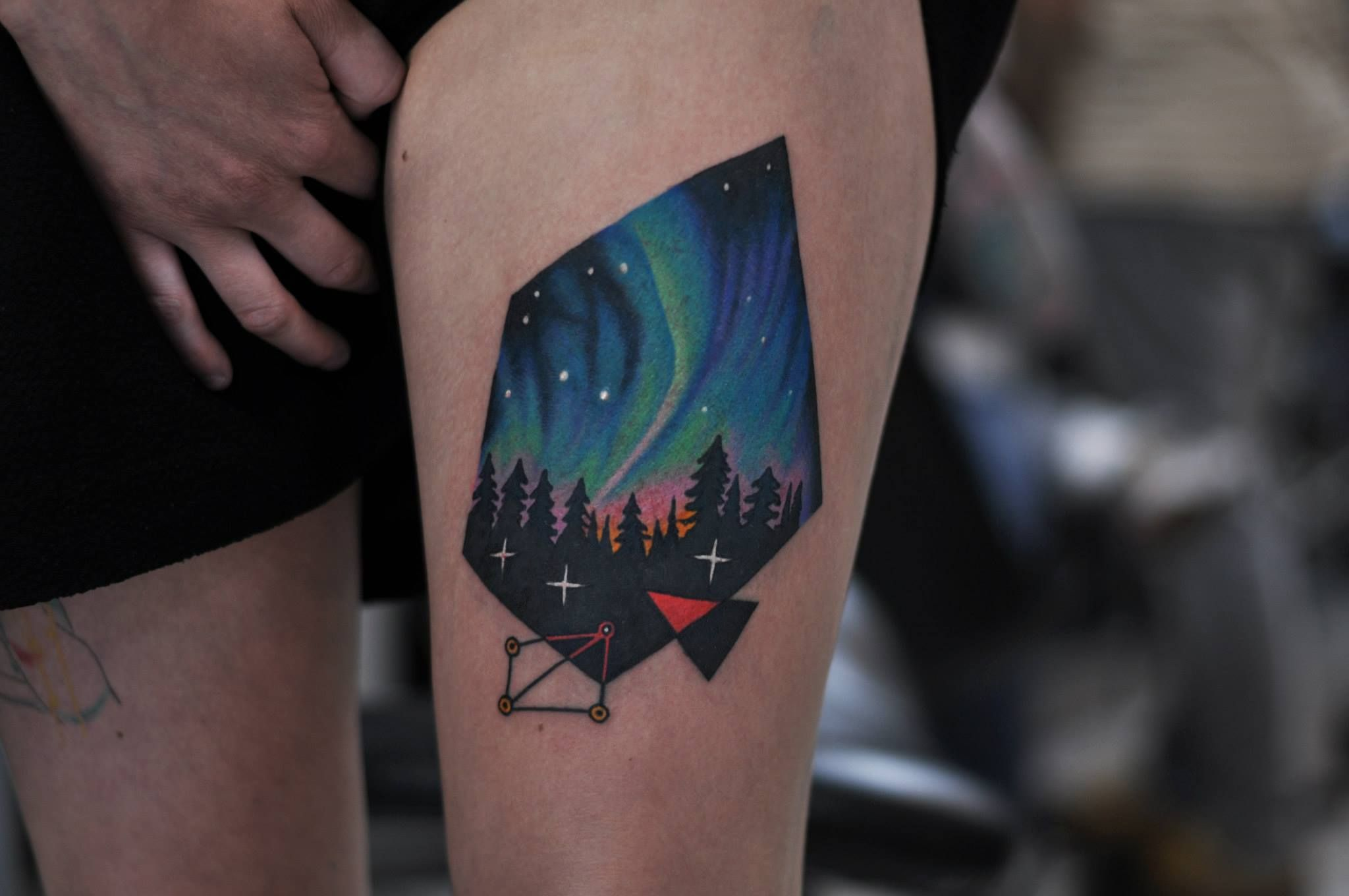 Northern lights tattoo by david cote ink is art for Best tattoo artists in northern california