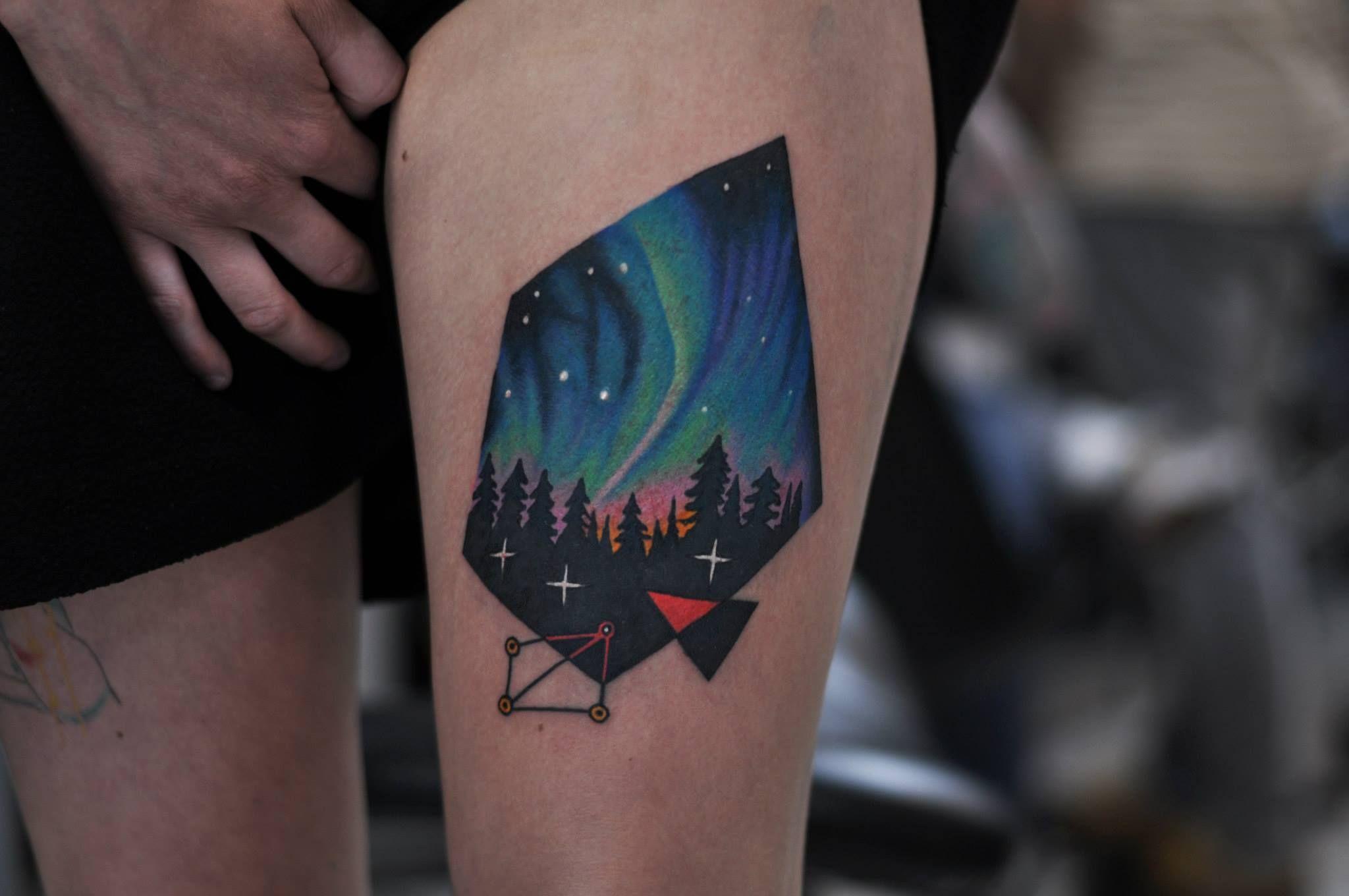 Northern Lights Tattoo Tattoo Designs Men Light Tattoo