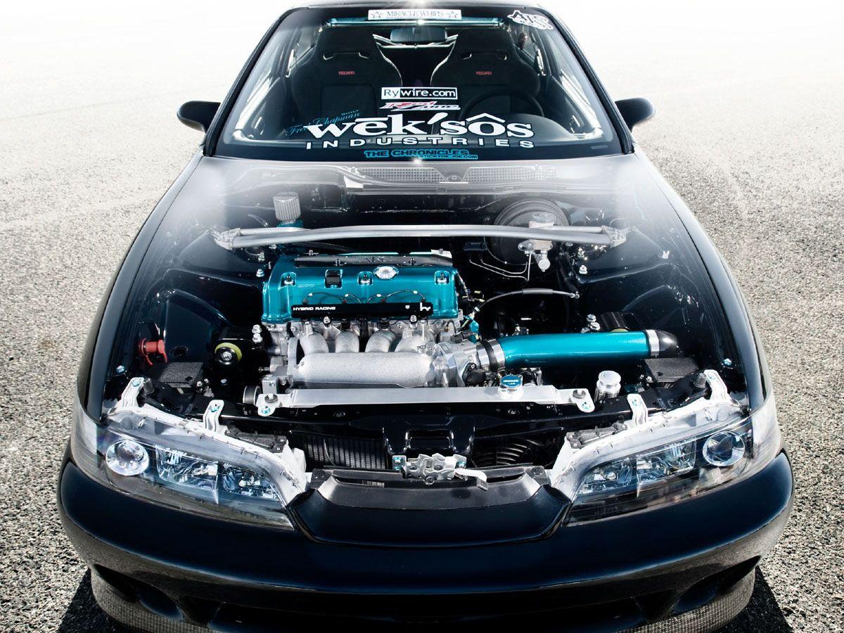 clear hood for honda integra and a custom engine | Honda ...
