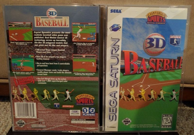 3D Baseball US #retrogaming #HotSS  not the best Baseball game but uncommon US title. Complete in very good condition. Auction ends in some hours.