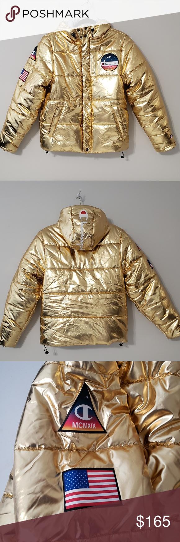 Champion Gold Nasa Puffer Jacket Nasa Clothes Clothes Design Clothes [ 1740 x 580 Pixel ]