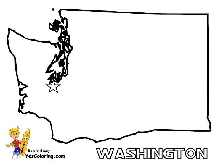 Washington State Study Coloring Pages Washington Dc Map