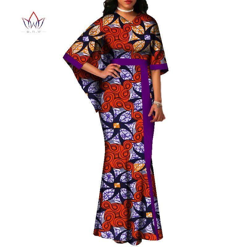 0ed7a154abb 2018 summer Plus Size o-neck dresses women traditional african fashion  Clothing Dashiki half sleeve cotton long dress 7xl WY2329.