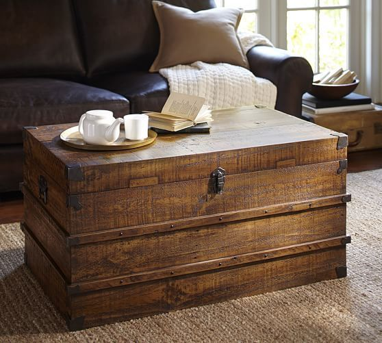 Mendell Reclaimed Wood Trunk | Pottery Barn