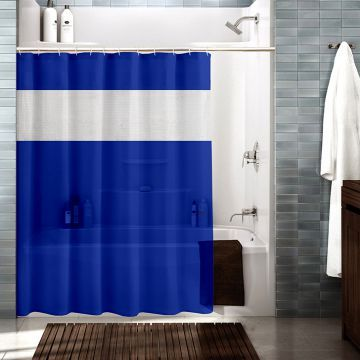 Cortina Shower Curtain Royal Blue And White Bathroom Shower