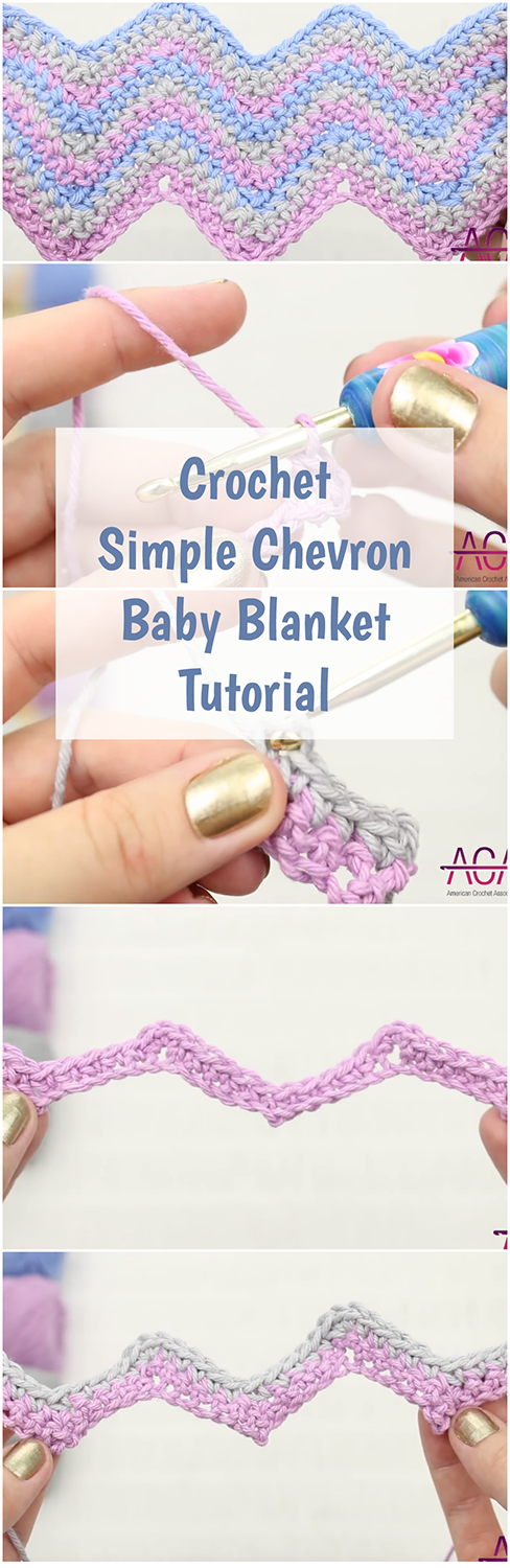 Crochet Simple Chevron Baby Blanket Tutorial - With A Video Guide ...