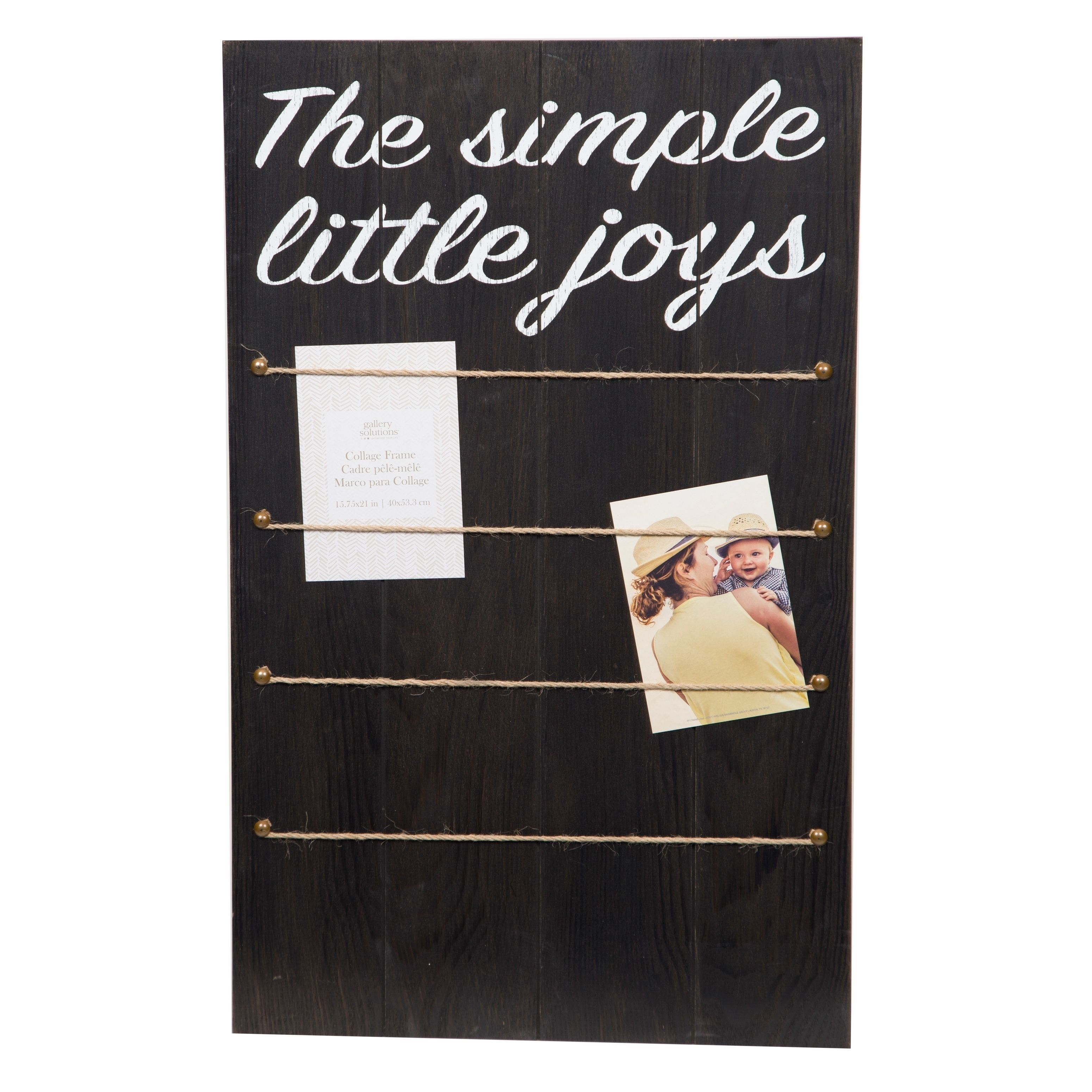 Simple Joys Black Collage with Rope and Clips Picture Frame, Size ...