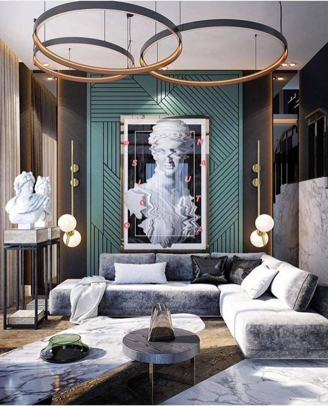 LUXURY AND ECCENTRIC LIVING ROOM WITH VERY STYLE in 2020 ...