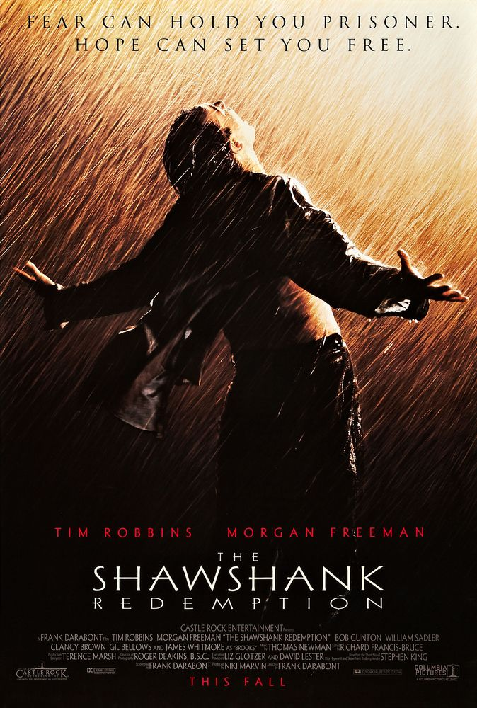 Pin By Jose Ortega On List Of Movies The Shawshank Redemption Tim Robbins Top Rated Movies