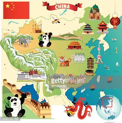 Cartoon map of China | Illustration in 2019 | Pinterest | China