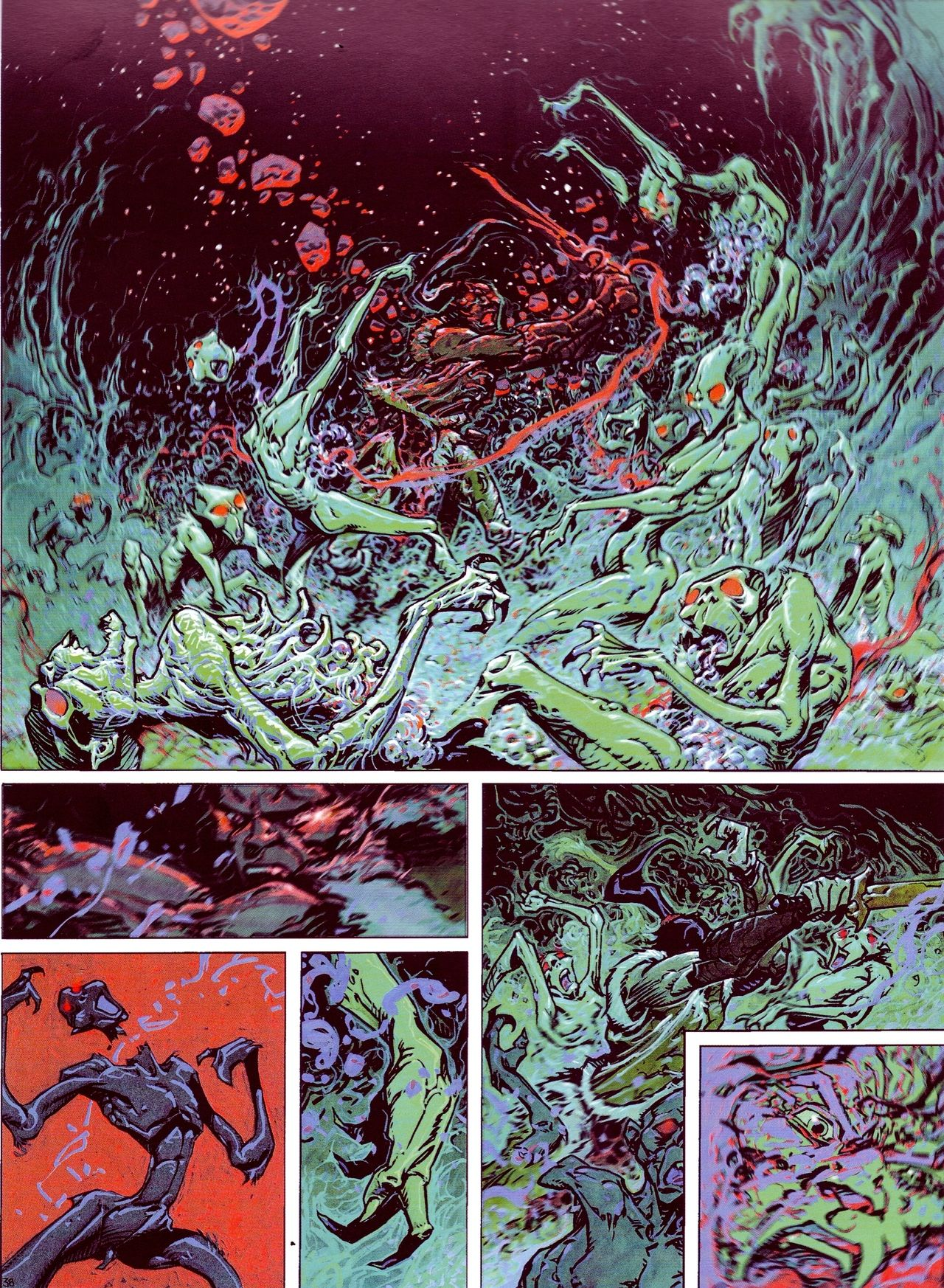 """""""Philippe Caza - French Author (B. 1941) - Page 40 - From """"Nocturnes - Chroniques de la Terre Fixe"""" (Nocturnals), Editions Delcourt, 1999"""""""