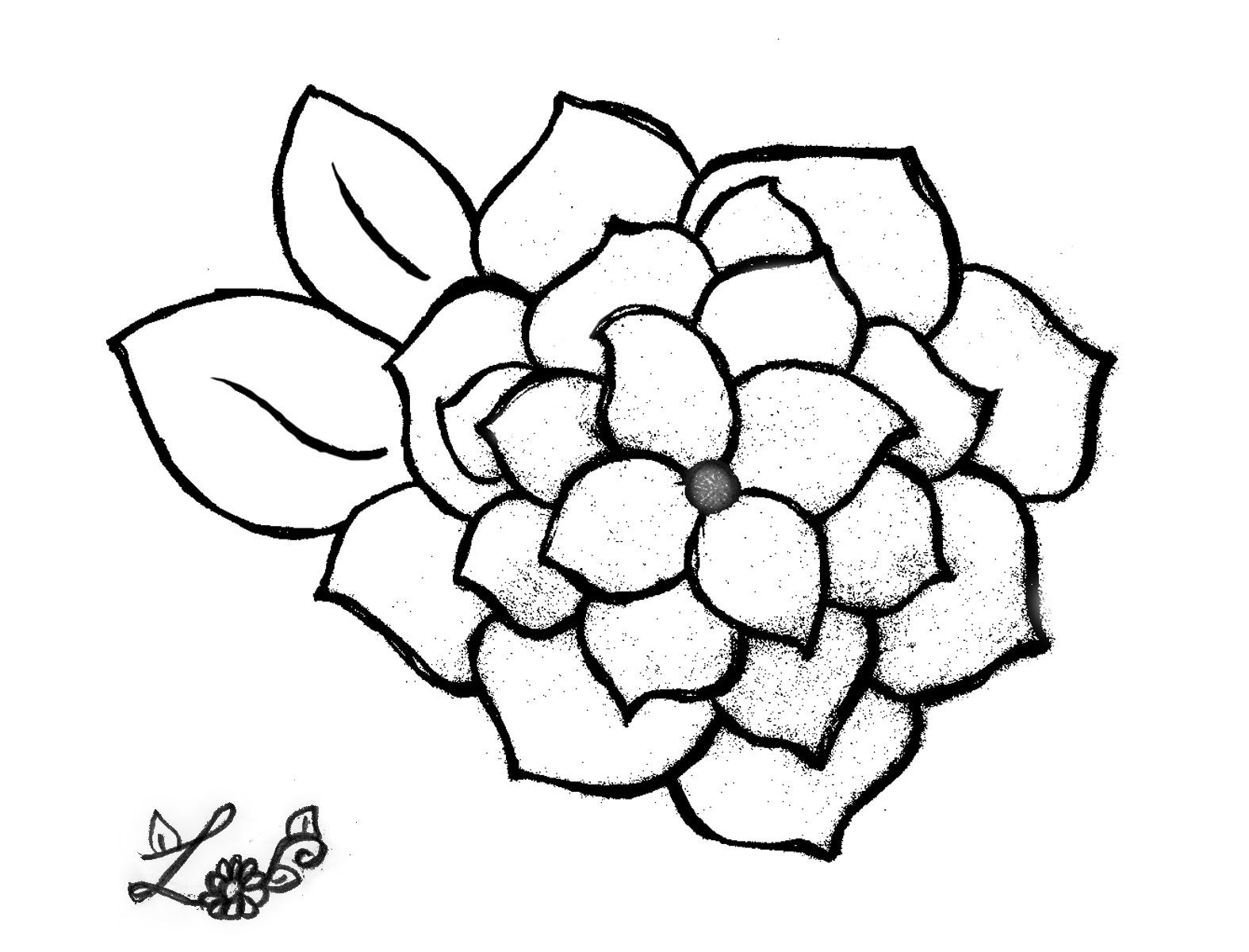 A Coloring Page Of A Flower By Lily At 9 Yrs Old Coloring Pages
