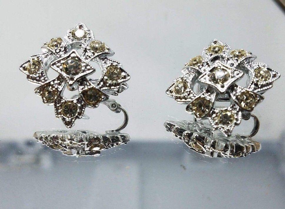 Vintage Saraha Coventry 1970 S Leading Lady Faux Diamond Earrings