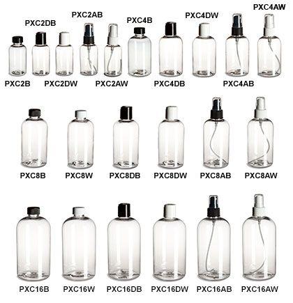 Clear Pet Boston Round Plastic Bottles Shampoo Bottles Bottles Decoration Bottle