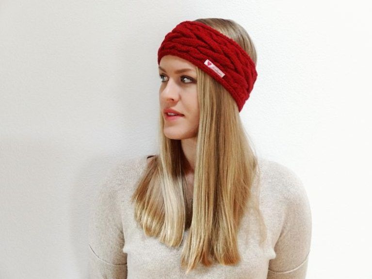 Kostenlose Anleitung: Stirnband mit Zopfmuster stricken / free DIY ...