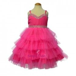 afe1c8279df5 Layered Frock For Kid And Baby Girl - F-213 | Party Wear Frocks For ...