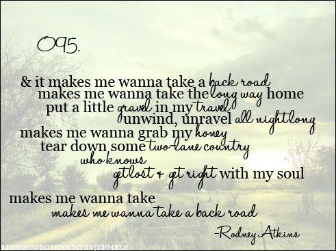 back road lyrics