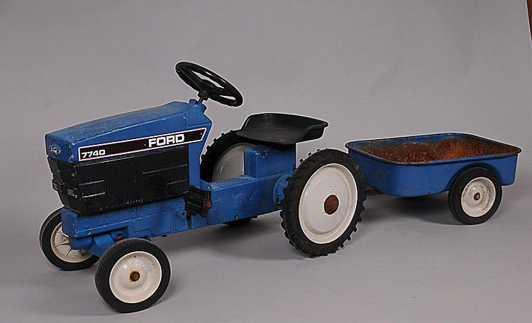 buy online, view images and see past prices for ertl ford 7740 pedal tractor  w/ wagon 20 3/4