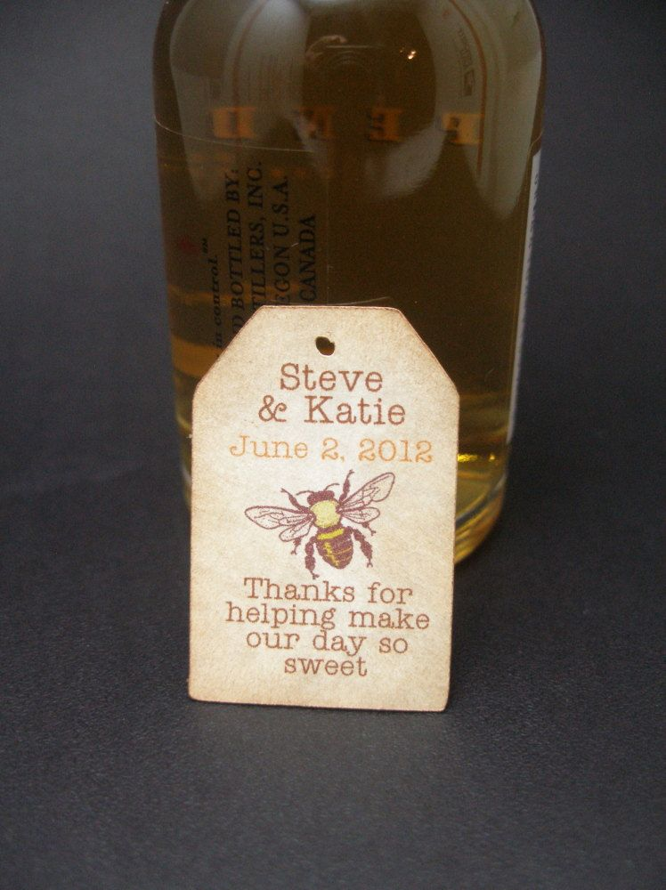 Mini Liquor Bottle Tags Wedding Favor Tag By Just Scraps N Things