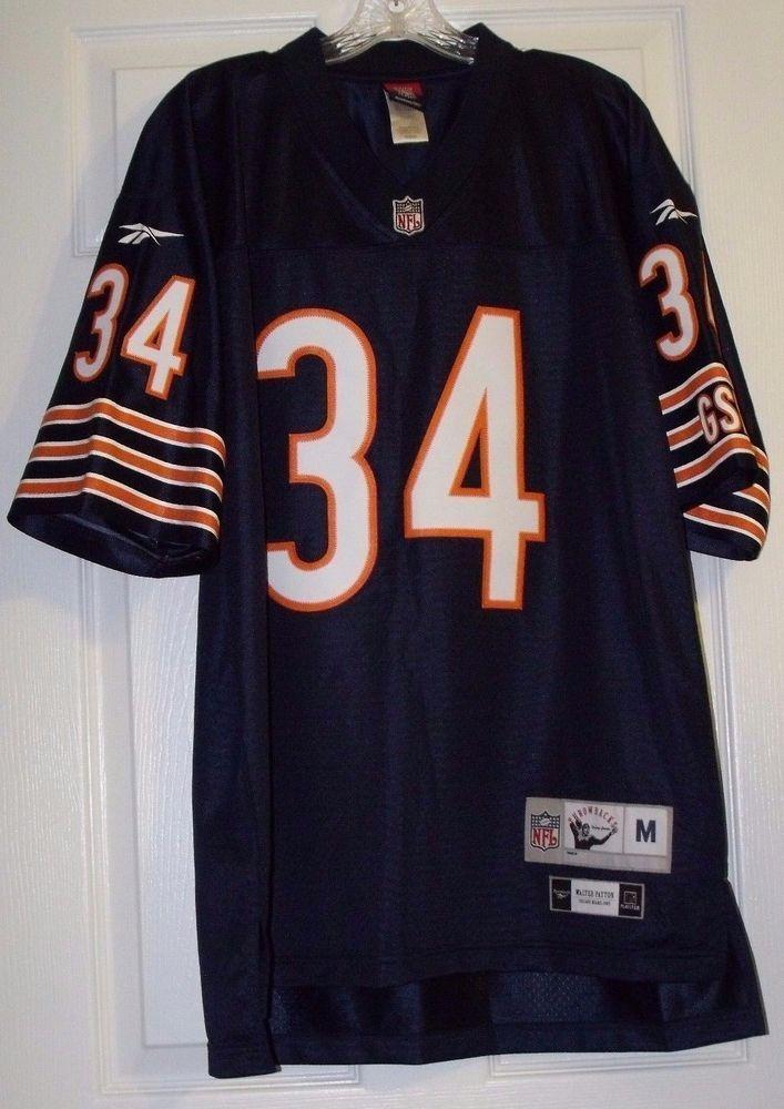 66f23ce45 CHICAGO BEARS WALTER PAYTON  34 NFL THROWBACK SEWN REEBOK JERSEY SZ MED  MINT!