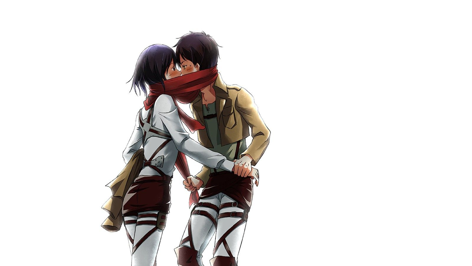 Mikasa Eren Kiss Photo Free Download Wallpapers Mikasa Eren And