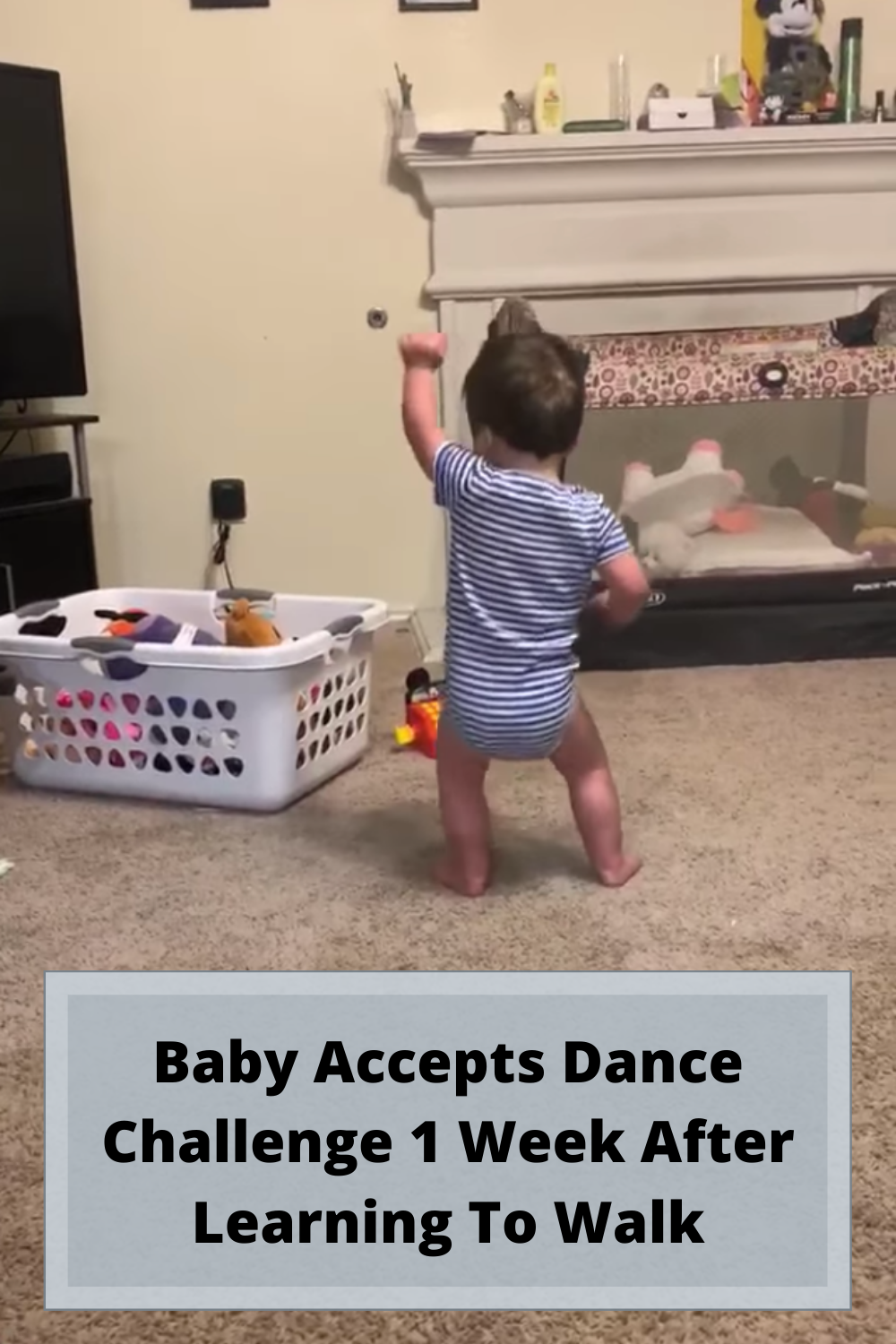 Baby Accepts Dance Challenge 1 Week After Learning To Walk Challenges Dance Learning